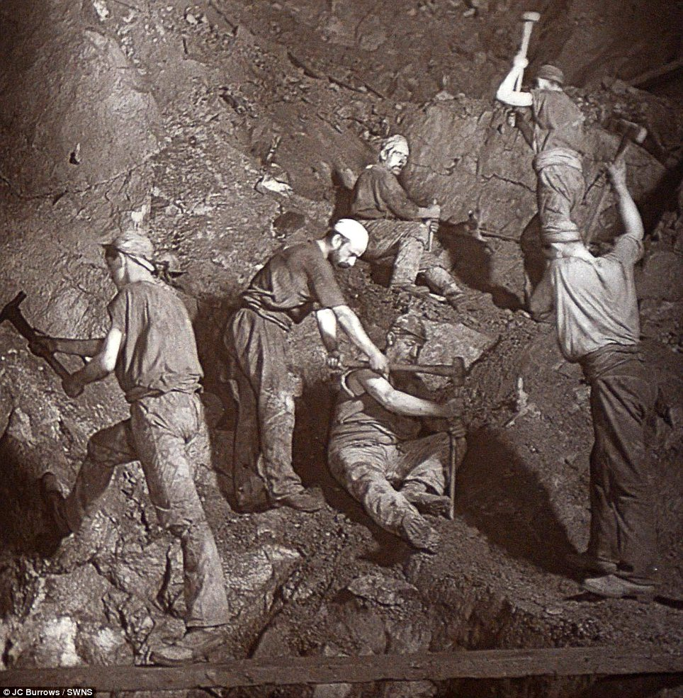 photograph of Cornish miner
