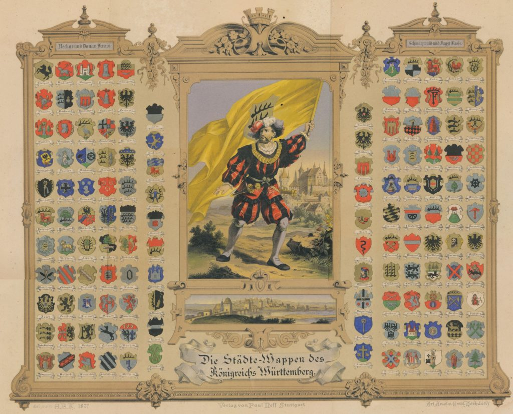 Wurttemberg town crests