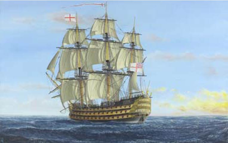trans-atlantic sailing ship