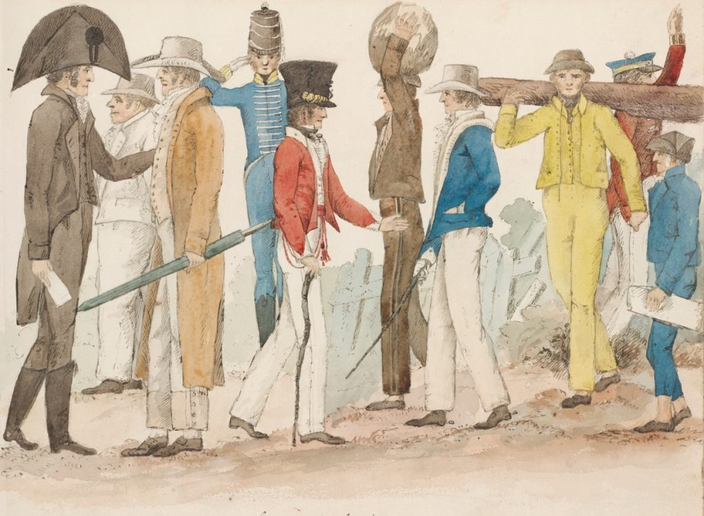 Costume of Australasians 1825